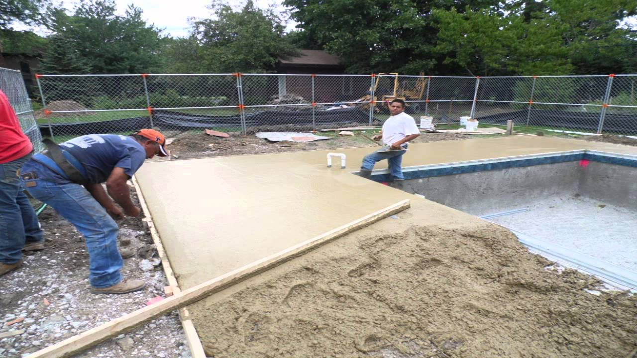 Swimming Pool Decks | Elmhurst, IL | Danna Pools Inc - YouTube
