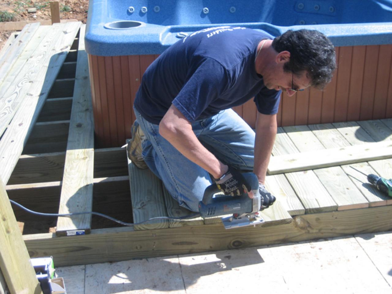 How To Install a Hot Tub On A Deck | how-tos | DIY