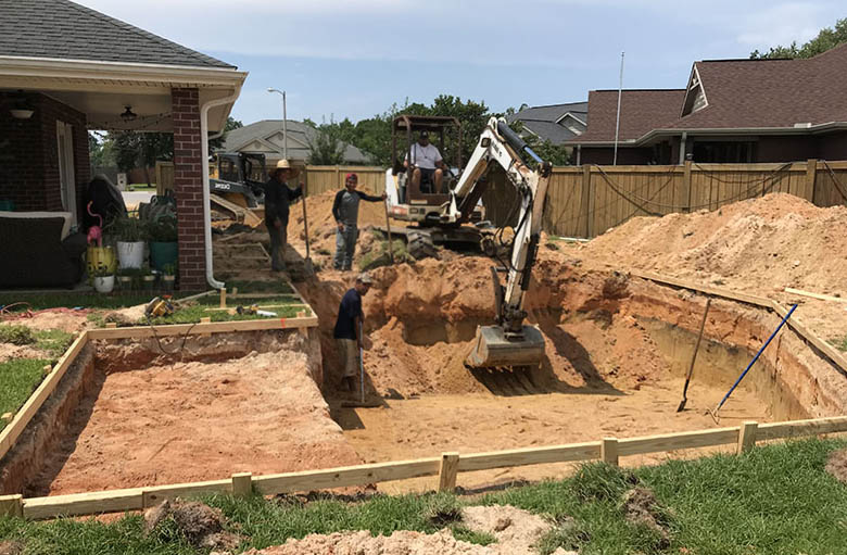 Swimming Pool Excavation | Beautiful Backyard Living | Patio ...