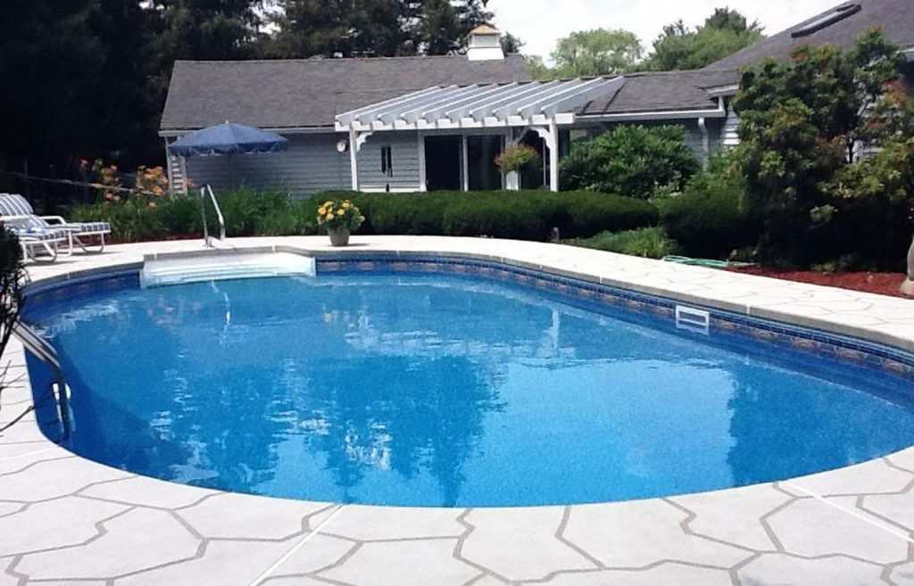 Luxury Inground Swimming Pool - Oval Shape In Backyard