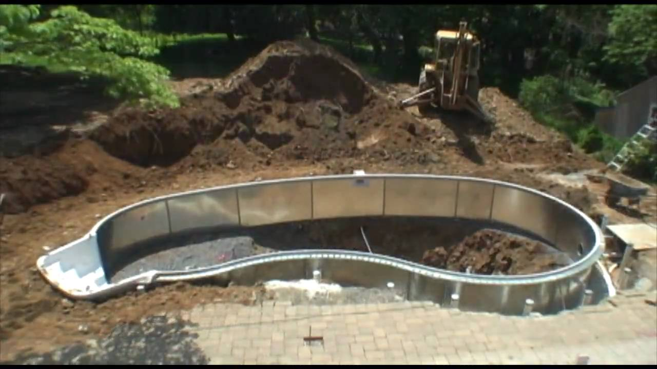 Swimming Pool Construction Time Lapse - YouTube