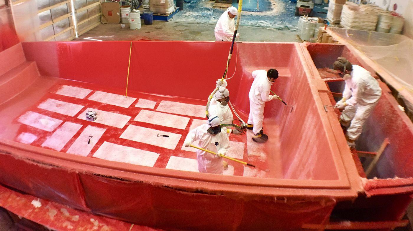 How Are Fiberglass Pool Molds Made?