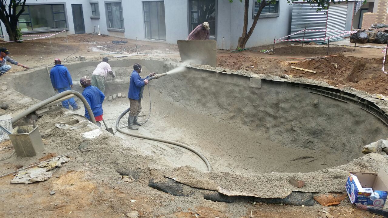Guniting Process - Gunite Pool Construction