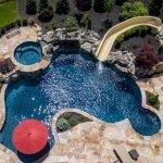 Aerial View of a Gunite Pool - Gunite Luxury Pool