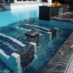 Gunite Pool with Ledge Loungers