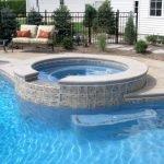 Gunite Pool With Raised Spa