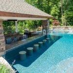 Gunite Pool With Swim Up Bar