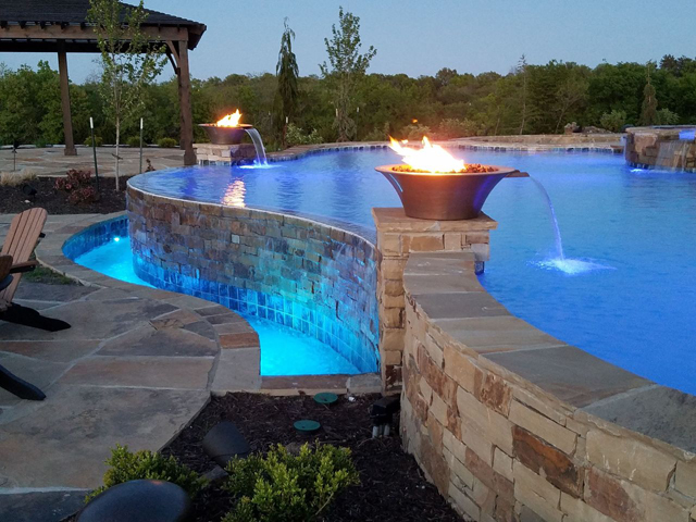 How Do Fire Bowls Work In A Pool?