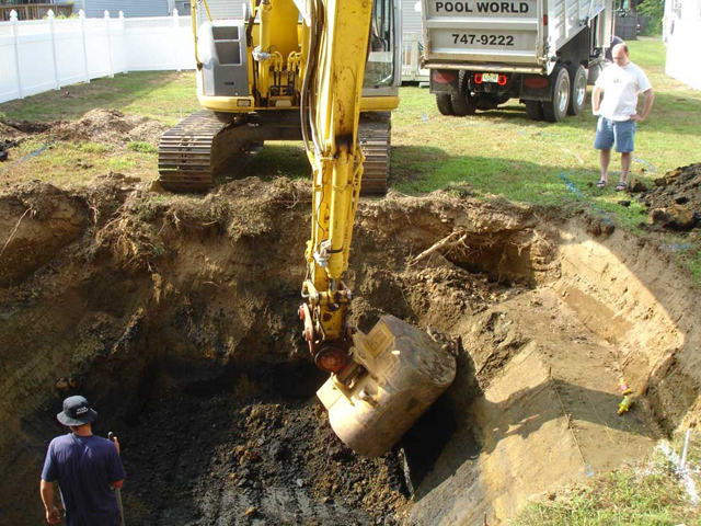 Can you partially bury an above ground pool?
