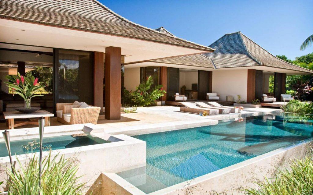 Best Backyard Design Tip - Keep The Pool Area Simple & Elegant Say Experts