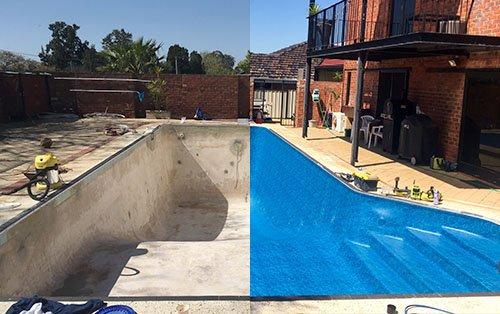 Gunite Pool Converted Into Vinyl Liner Pool
