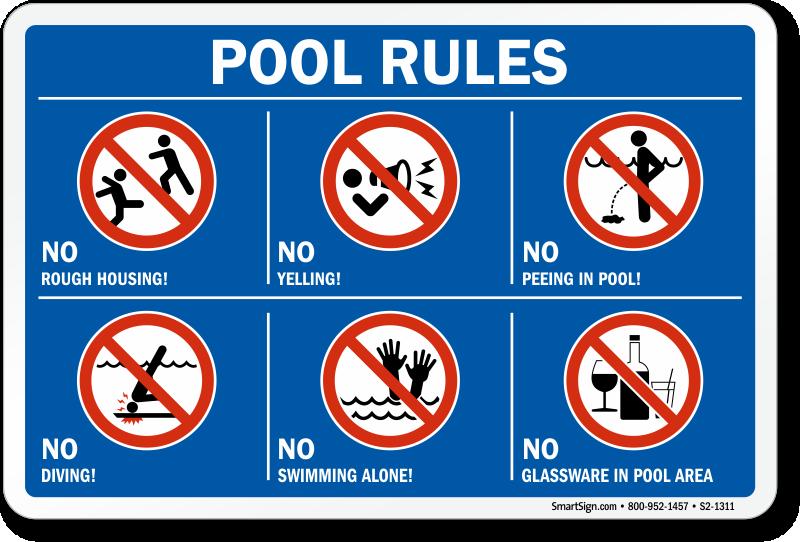 Pool Safety Tip - Set Pool Rules